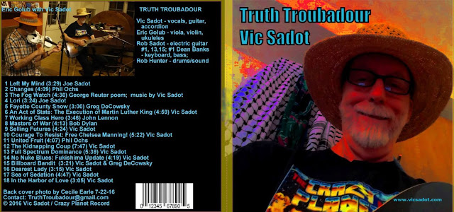 Truth Troubadour CD by Vic Sadot at CD Baby Store