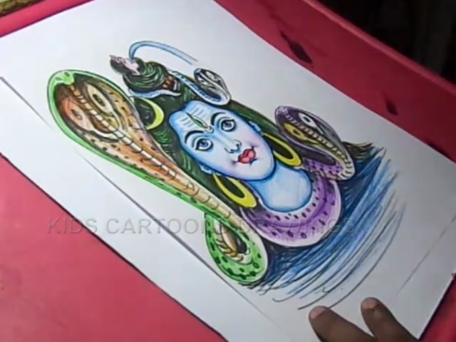 KIDS CARTOON DRAWINGS: How to Draw Lord Shiva Drawing for kids