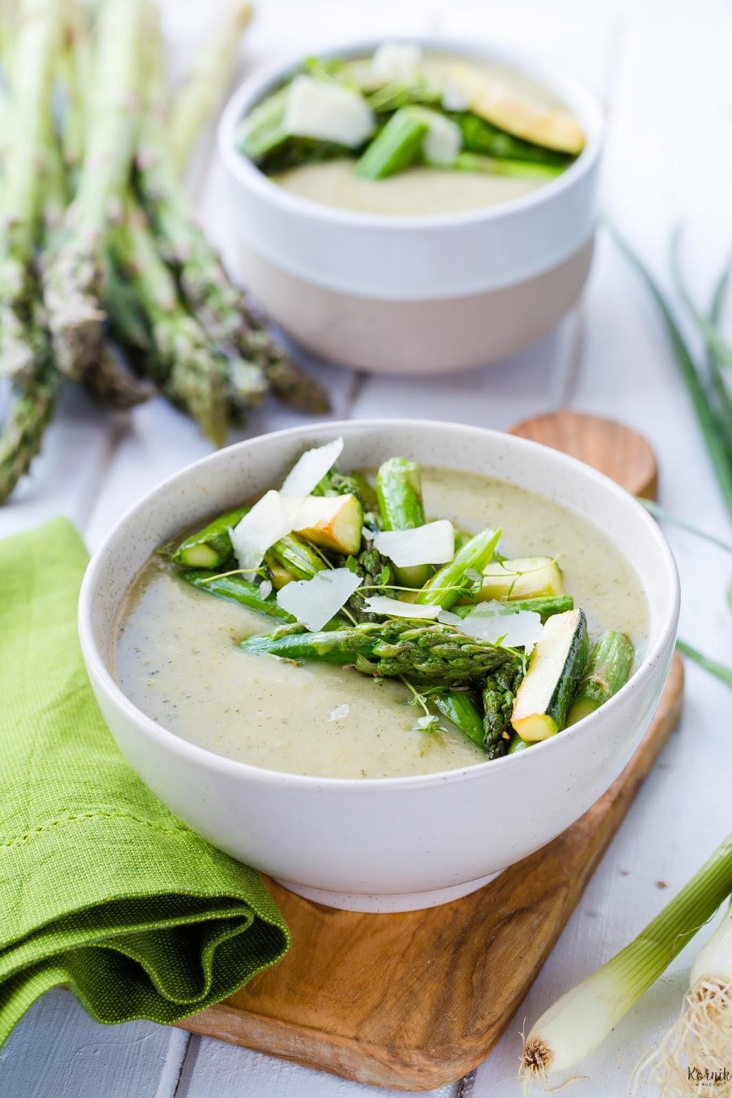 Zupa ziemniaczana z zielonymi warzywami
