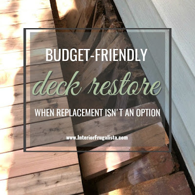 A budget-friendly deck restoration. How to restore an old outdoor wood deck to buy some time when a brand new replacement deck isn't in the budget. -Friendly Deck Restore