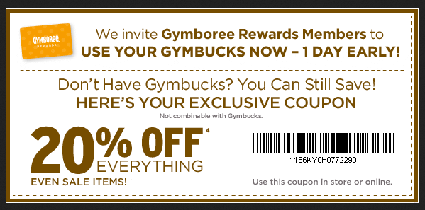 It's just a photo of Ridiculous Gymboree Coupon in Store Printable