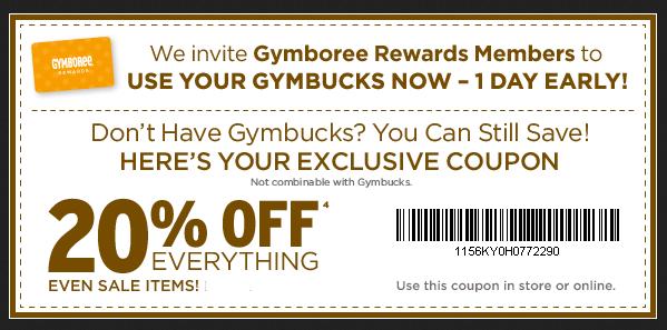 Gymboree coupons printable
