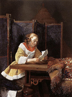 Gerard Terborch - A Lady Reading a Letter
