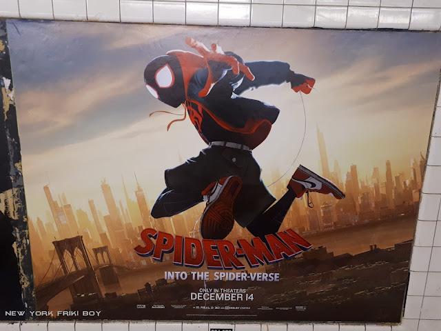 Spider-Man Into the Spider-Verse Miles Morales subway