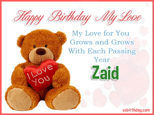 Zaid Happy Birthday My Love