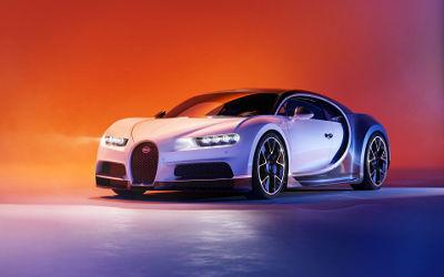 Bugatti Chiron Blur Art - Fond d'écran en Ultra HD 4K 2160p