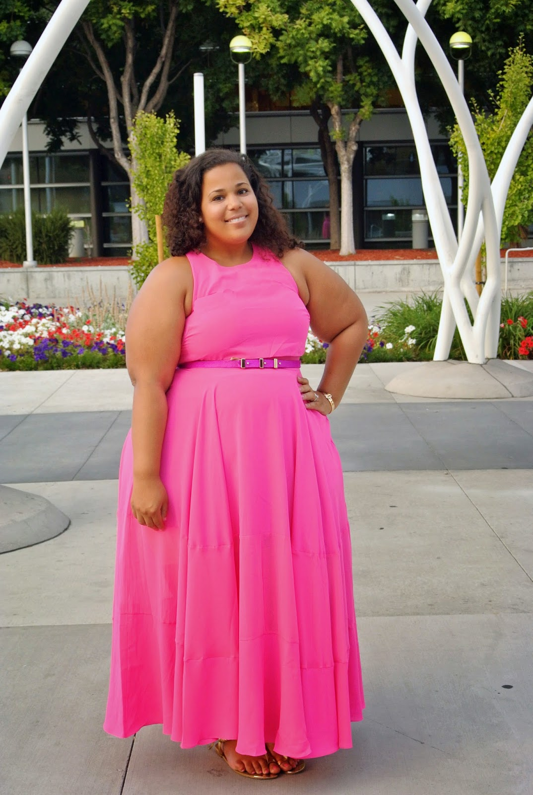 Plus Size Pink Maxi Dress, Blogher, Khloe Kardashian