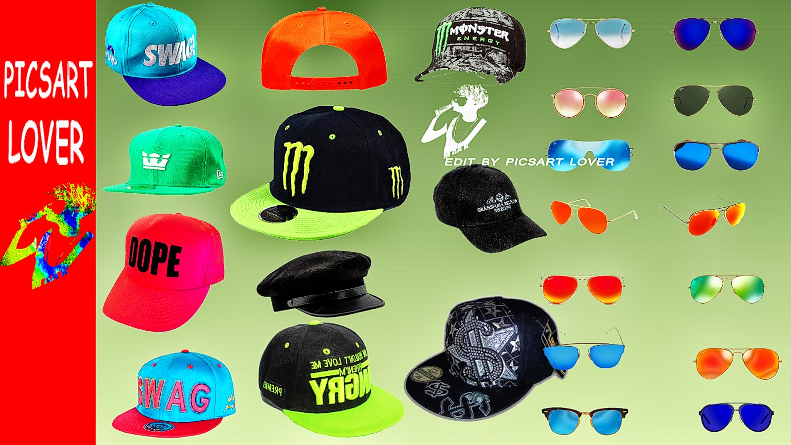 SUNGLASSES AND PNG CAP DOWNLOAD