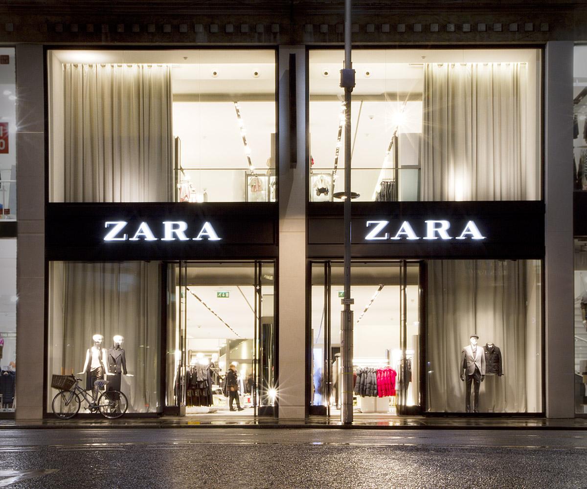 Zara boutique clothing store as subsidiary