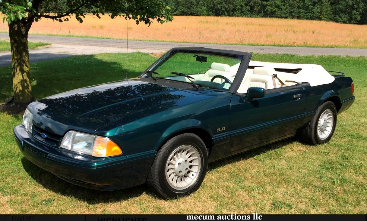 On the block 1990 mustang lx 7up convertible update with hi bid
