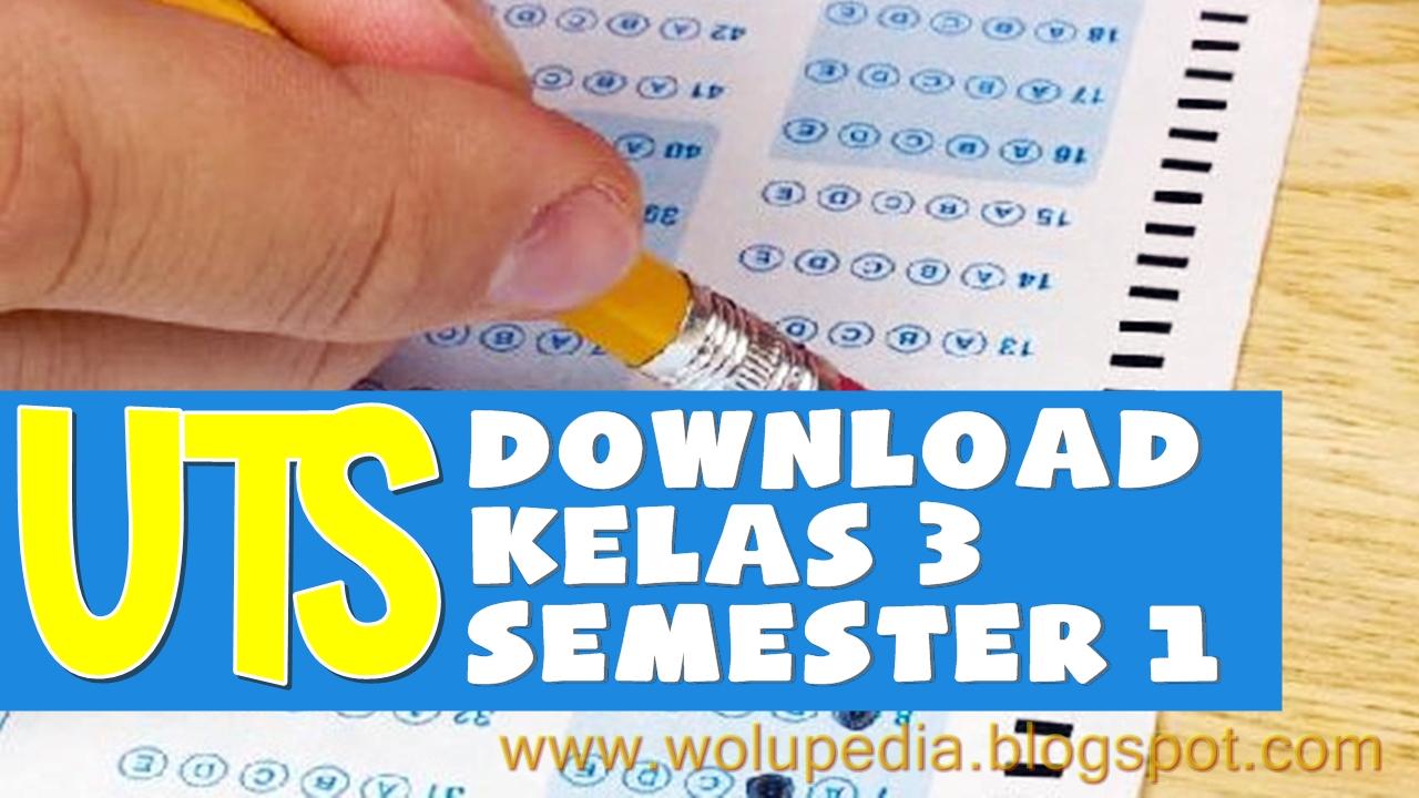 Download Soal Uts Sd Kelas 3 Semester 1 Lengkap Sd