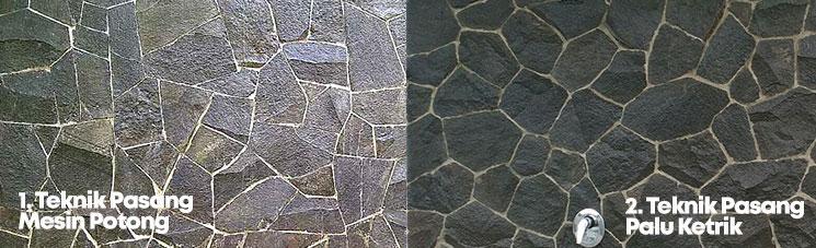 gambar batu alam templek jenis pemasanganya