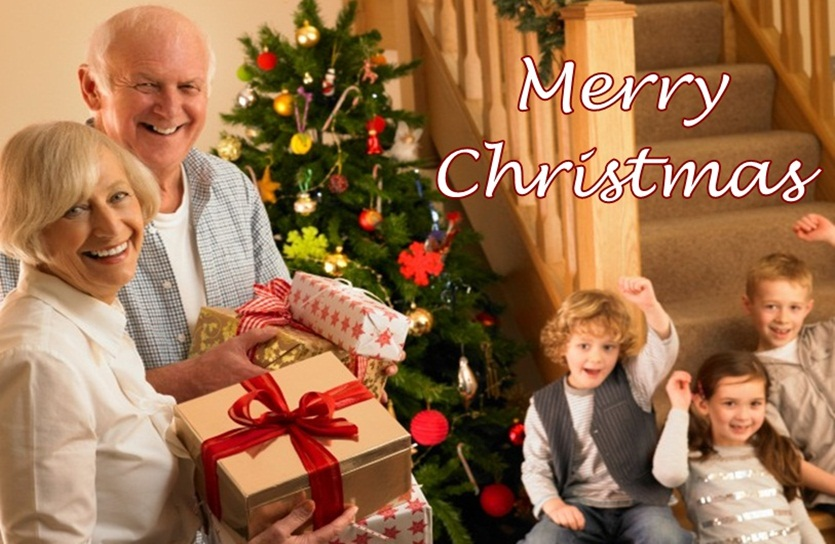 Christmas Grandparents Image
