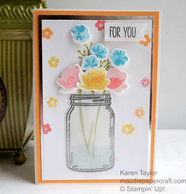 Stampin' Up! Jar of Love card, with vellum