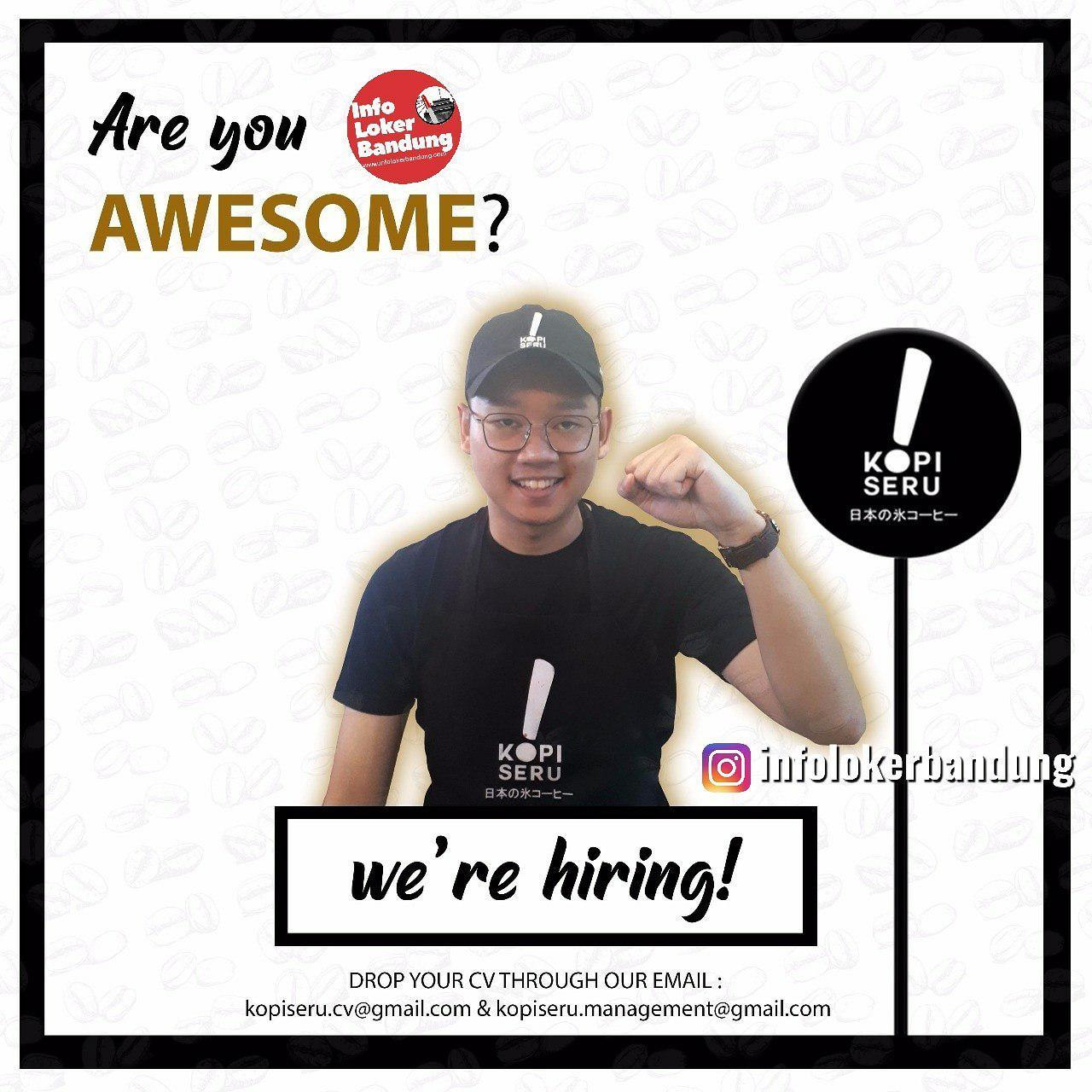 Lowongan Kerja Barista Kopi Seru Bandung April 2019