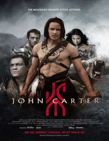Poster Of John Carter 2012 Hindi Dual Audio 550MB BRRip 720p ESubs HEVC Free Download Watch Online downloadhub.in