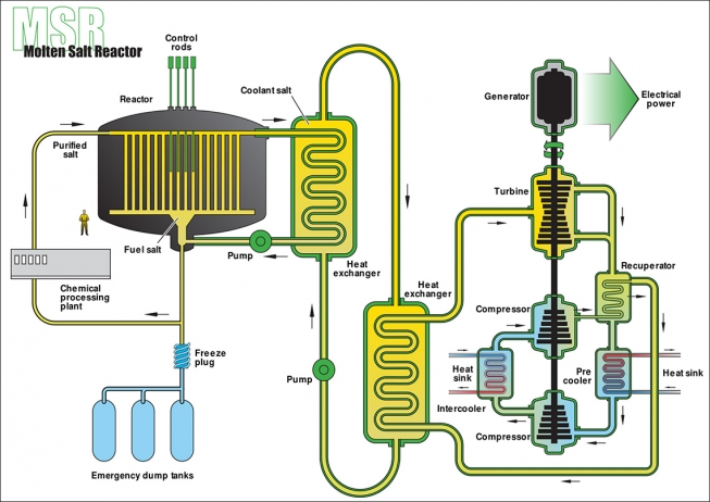 17 countries cooperating on Molten Salt Nuclear Reactor