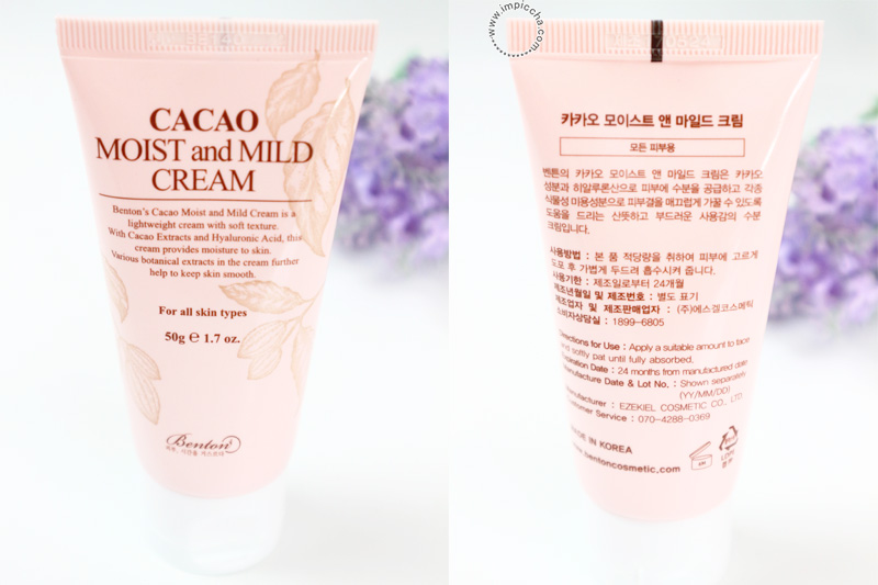 Review Benton Cacao Moist and Mild Cream
