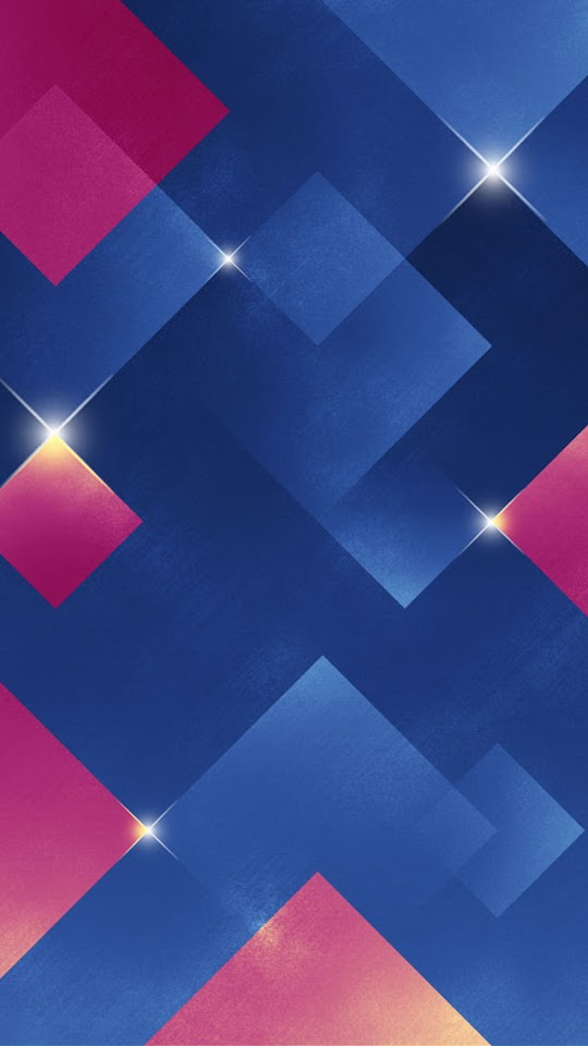 Shiny Diamond Squares Blue Pink  Galaxy Note HD Wallpaper