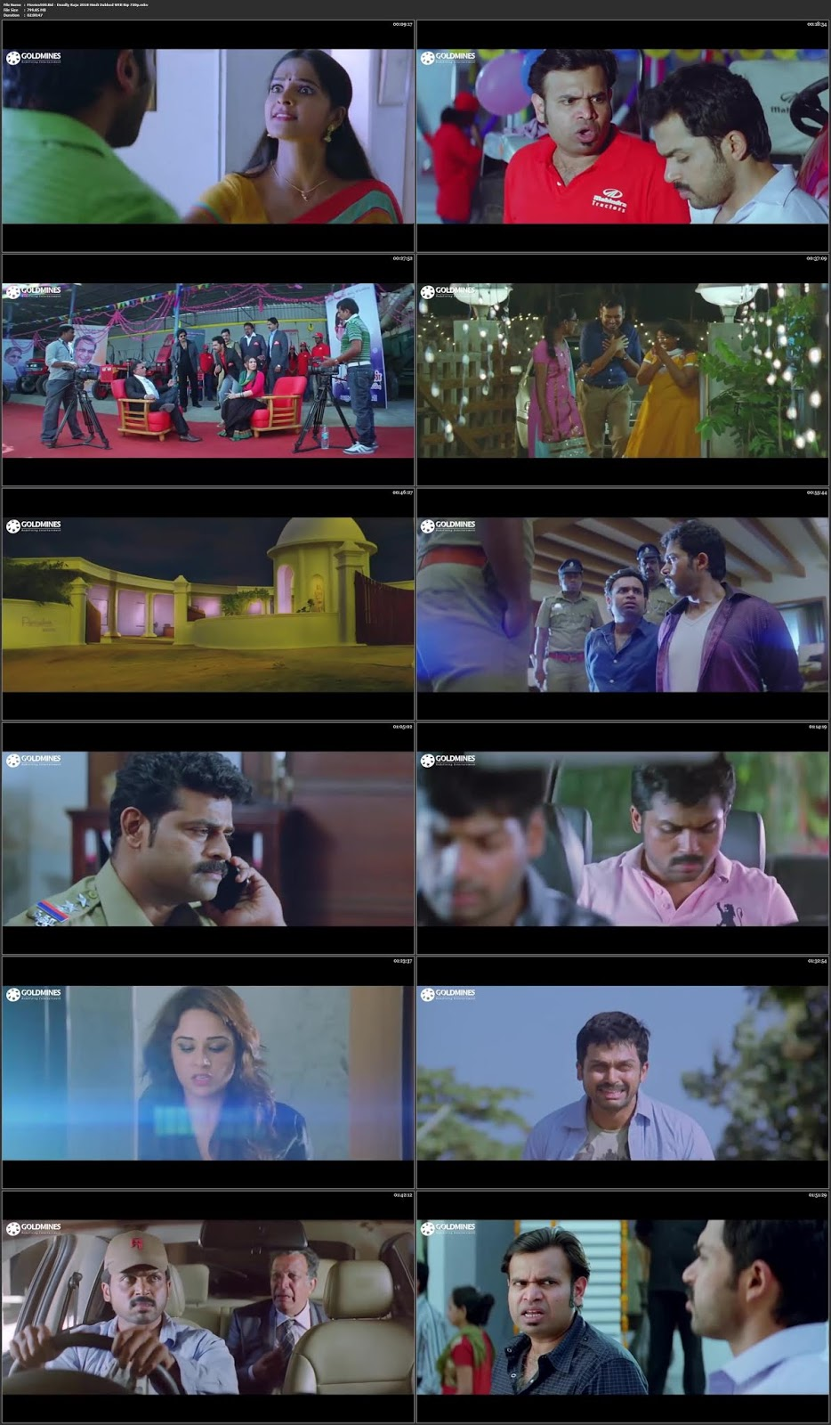 Deadly Raja 2018 Hindi Dubbed Full Movie WEB Rip 720p