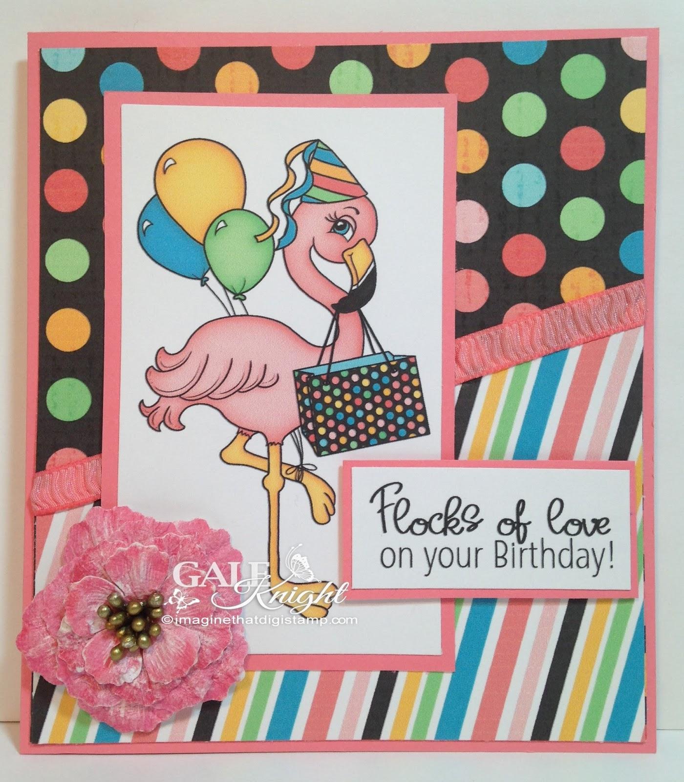 Gale s Stamping Corner Flamingo Birthday