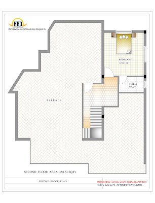 3 Story House - Second Floor Plan- 327 Sq M (3521 Sq. Ft.) - February 2012