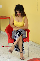 Cute Telugu Actress Shunaya Solanki High Definition Spicy Pos in Yellow Top and Skirt  0444.JPG