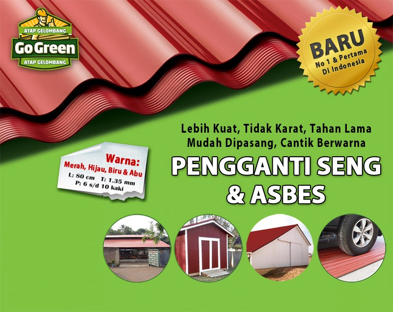 Rab Kanopi Baja Ringan Atap Go Green | Interior Exterior Custom Harga Open ...