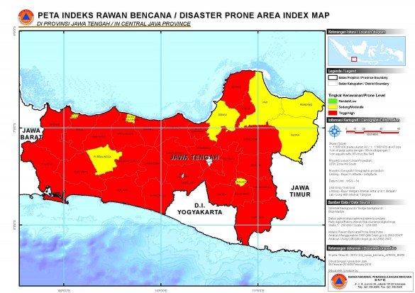Peta Daerah Rawan Bencana Jawa Tengah Info Pendidikan Biologi Gambar
