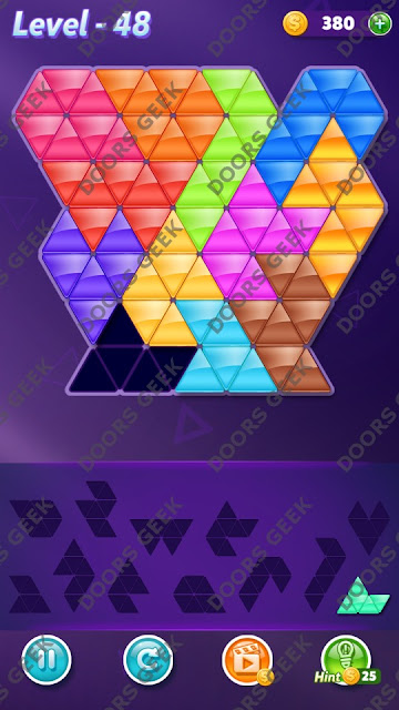 Block! Triangle Puzzle Grandmaster Level 48 Solution, Cheats, Walkthrough for Android, iPhone, iPad and iPod