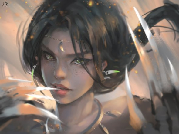 Wang Ling wlop deviantart ilustrações mulheres orientais fantasia realista beleza