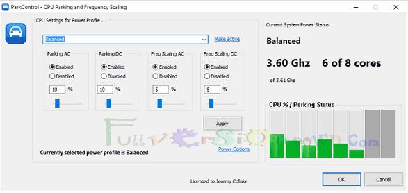 Download Bitsum ParkControl Pro Full Version