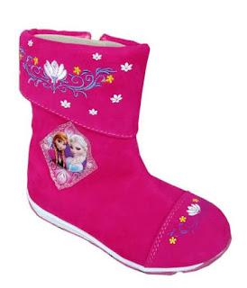 Sepato Boot Eksklusif Gambar Frozen Untuk Anak Perempuan