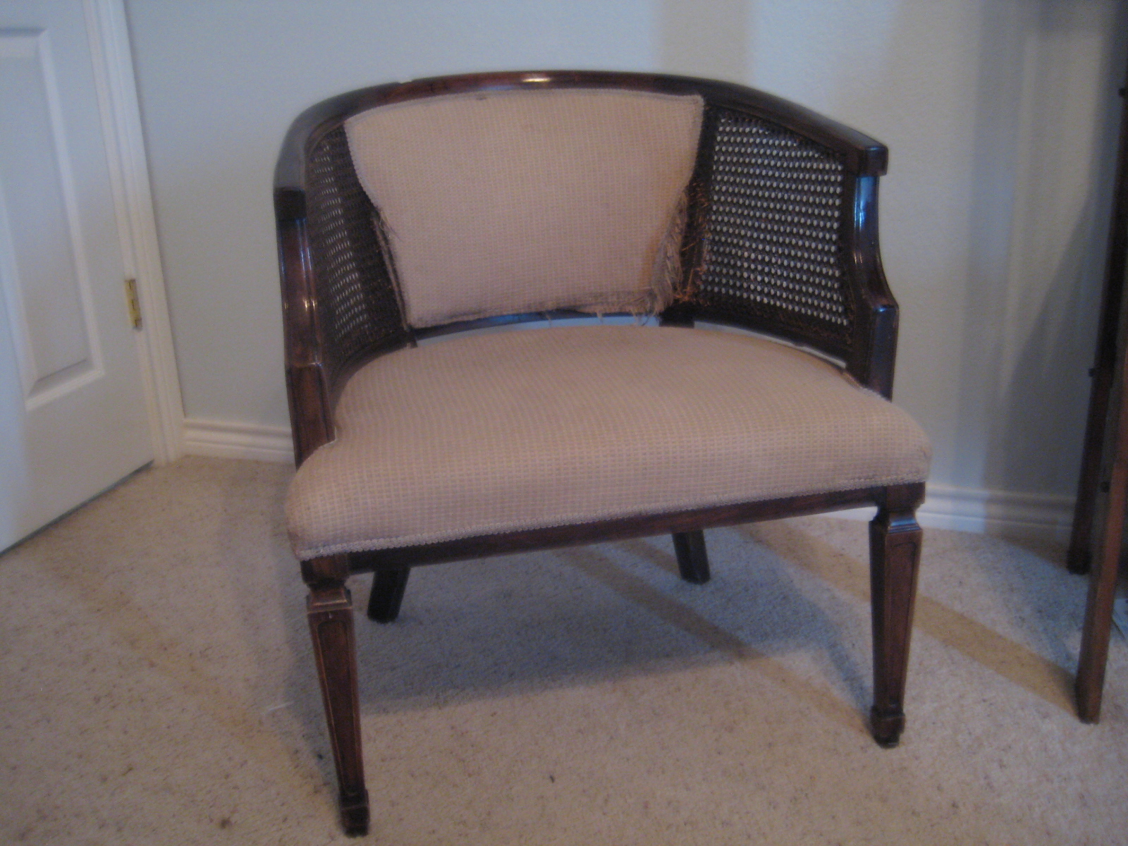 where can i buy cane for chairs ergonomic chair tilt adventures in creating reupholstered