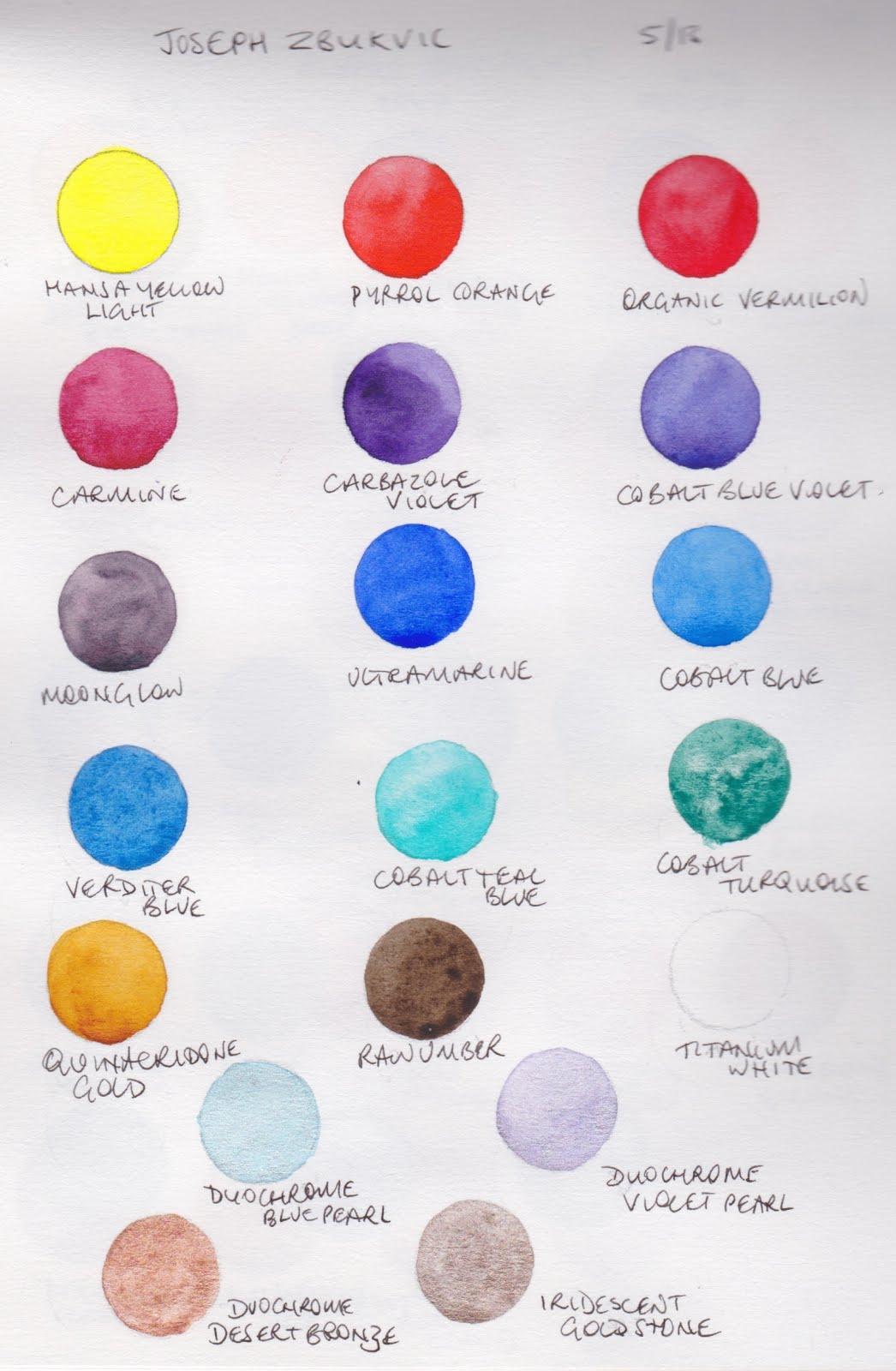 Daniel Smith Artist Palette Dot Cards