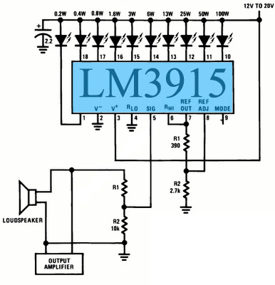 Audio Power Meter Circuit