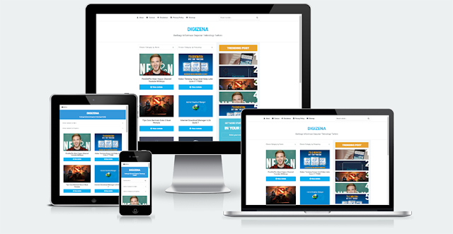 Digizena Responsive Blogger Template