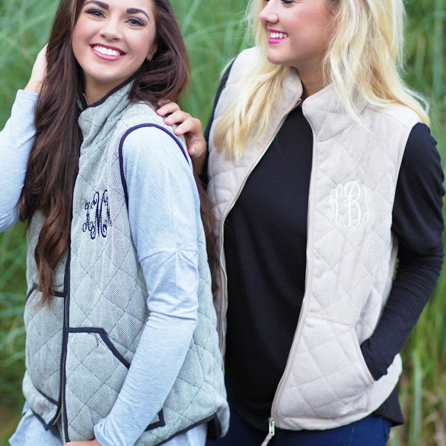 girls wearing herringbone vest