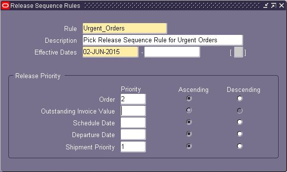 This Release Sequence rule then assigned in Shipping Parameter form to  specify the order in which eligible picking lines are released during Pick  Release. 10b2cee42