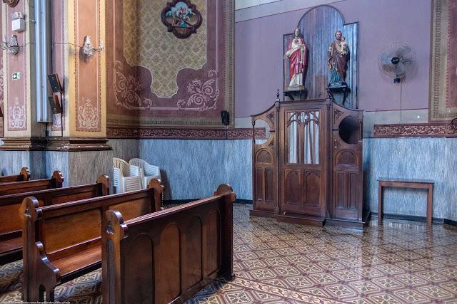 Igreja Imaculado Coração de Maria - interior - confessionário