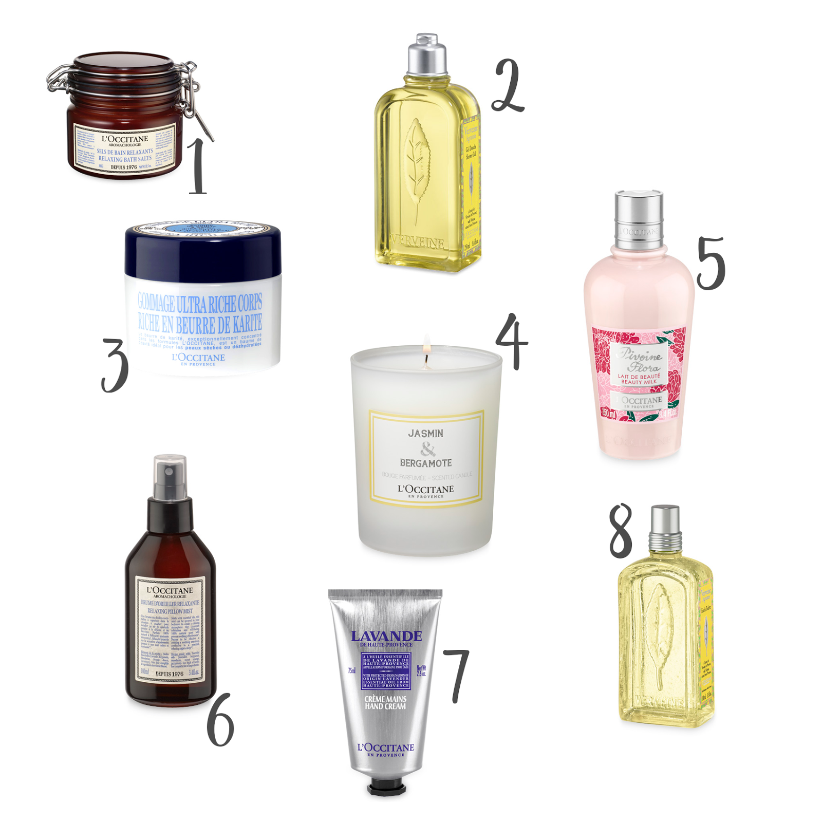 L'Occitane Pamper Wishlist