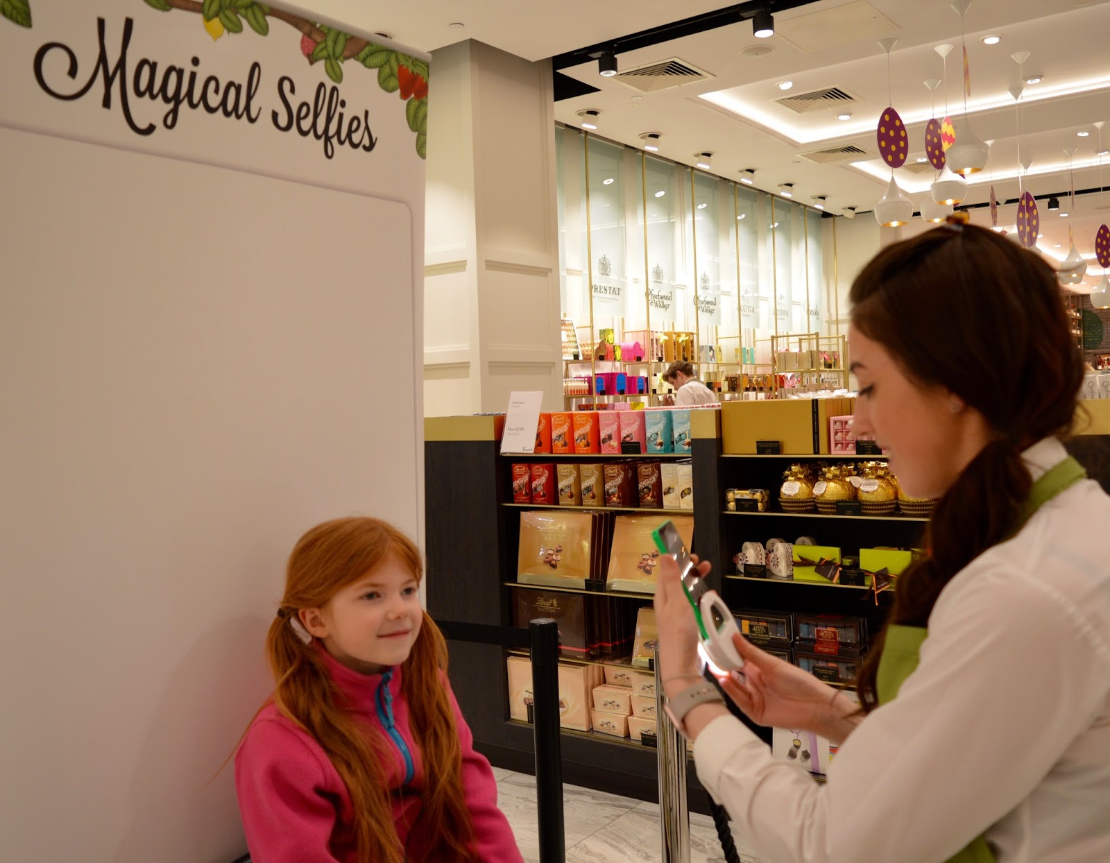 Create Magic Sweet Selfies with Katjes Magic Candy Factory at Fenwick Newcastle this Easter - selfie chair