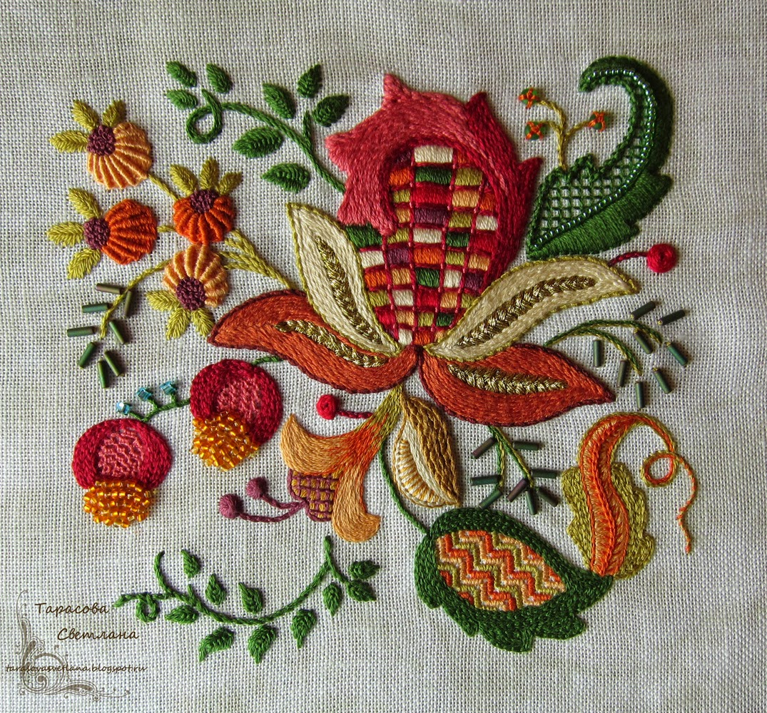 pinterest embroidery, Ricamo crewel on Pinterest Jacobean, Crewel Embroidery