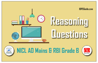 Practice Reasoning Questions For NICL AO & RBI Grade B 2017