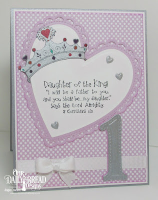 ODBD Princess, ODBD Custom Large Numbers Dies, ODBD Custom Ornate Hearts Dies, ODBD Custom Umbrellas Dies, ODBD Custom Pierced Rectangles Dies, ODBD Pastel Paper Pack, Card Designed by Angie Crockett