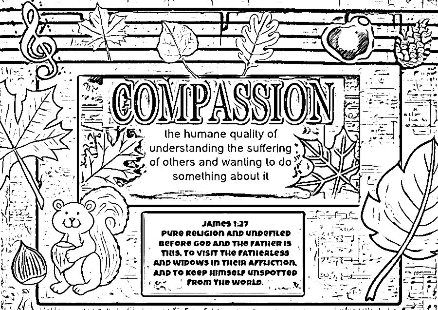 compassion coloring pages - children 39 s gems in my treasure box beautiful musical fall