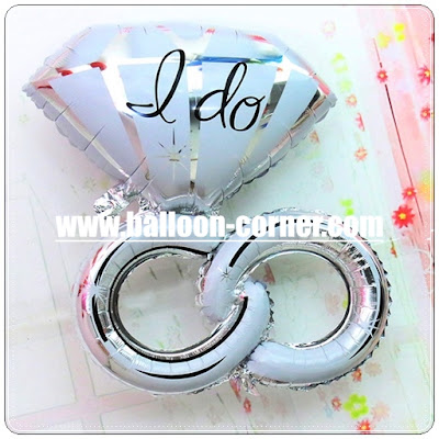 Balon Foil Cincin Diamond I DO Double