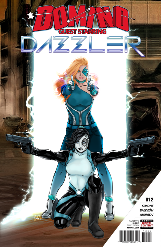 danieldoodles? cover for Domino/Dazzler Issue by Gail Simone