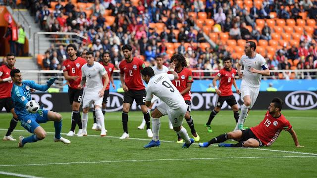 المنتخب المصري ينهي مباراة قوية جداا مع منتخب اوروغواي ولكن ؟!