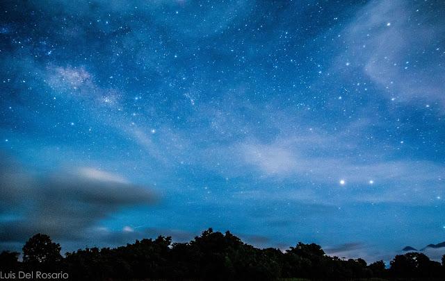 Photo of stars in Lumot Lake, Cavinti, Laguna